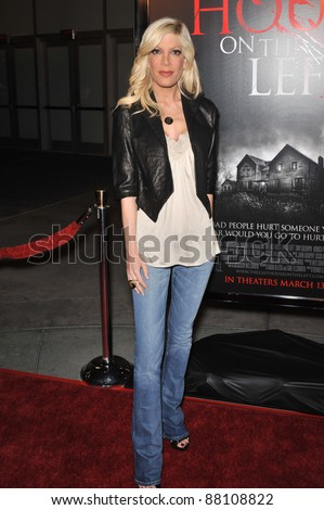 "Tori Spelling at the world premiere of ""The Last House on the Left"" at the Arclight Theatre, Hollywood. March 10, 2009  Los Angeles, CA Picture: Paul Smith / Featureflash - stock photo"