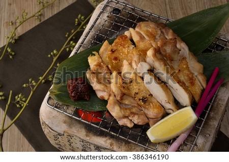 Tori terri shio, japanese grilled chiken - stock photo
