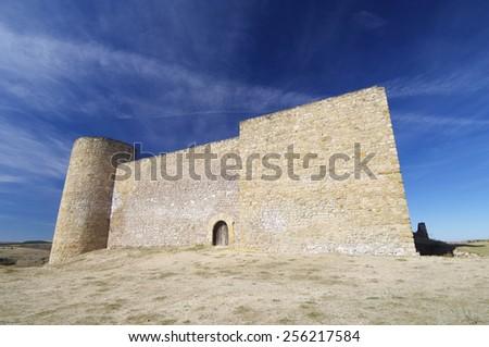 Torija Castle in Guadalajara, Castilla Leon, Spain. - stock photo