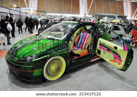 TORINO ITALY - FEBRUARY 15 2015: colored tuned car exposed at Expo Tuning & Suicide Door Stock Images Royalty-Free Images \u0026 Vectors ... Pezcame.Com