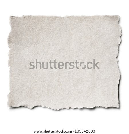 Torn blank paper with copy-space. - stock photo