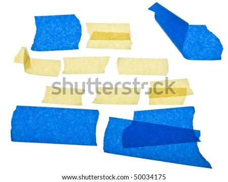 Torn Masking Tape - stock photo