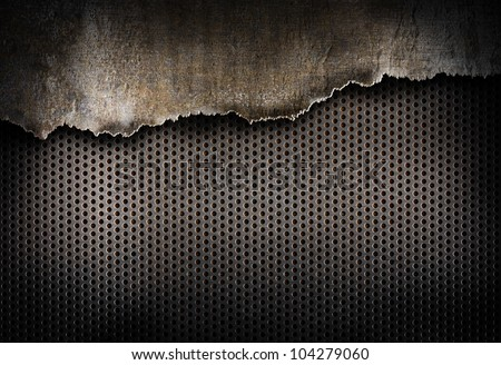 torn metal background - stock photo