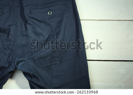 torn pants - stock photo