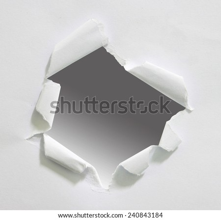 Torn paper - stock photo