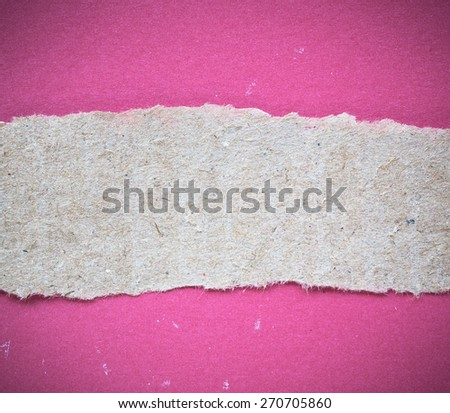 Torn paper background empty for add text - stock photo