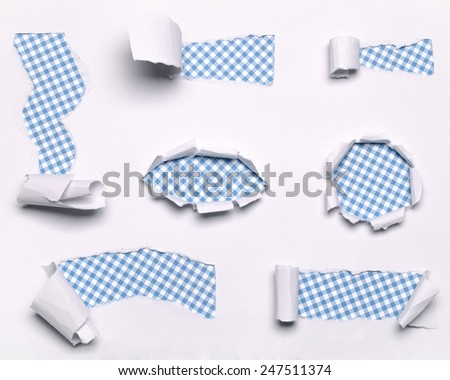 torn paper collection - stock photo