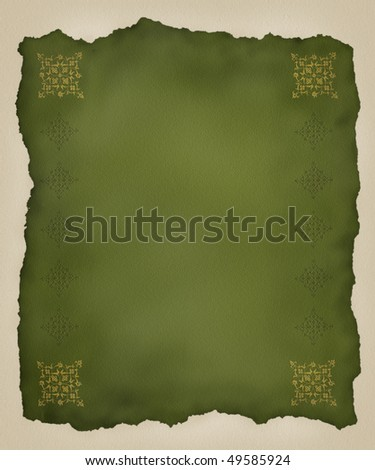 Torn Paper Embossed Background - stock photo