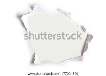 Torn paper for collage use - stock photo