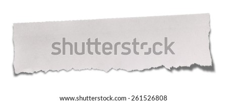Torn Paper. Isolated on white. (Clipping path)