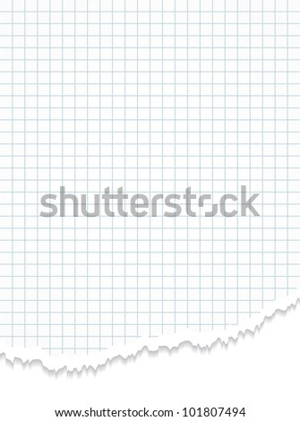 Torn paper. Realistic commercial vertical background. - stock photo