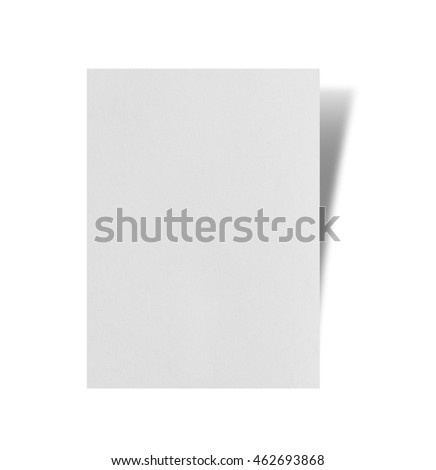 torn paper stick on white background