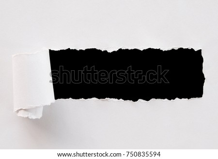 Torn paper. tiff file image with transparent background.