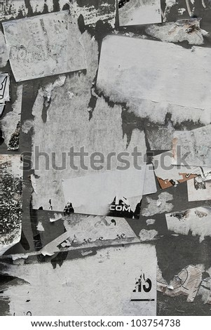Torn Paper Wall - stock photo