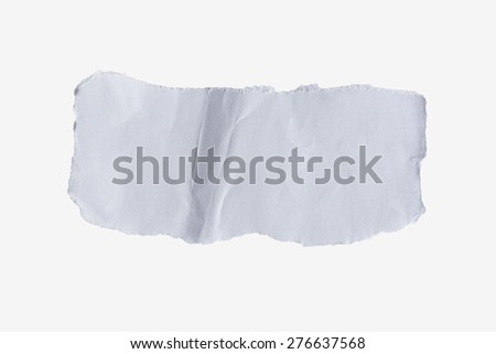 torn paper white on isolated. - stock photo