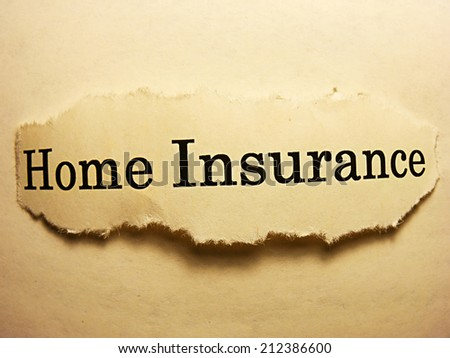 Torn paper with home insurance text. Home insurance concept. - stock photo