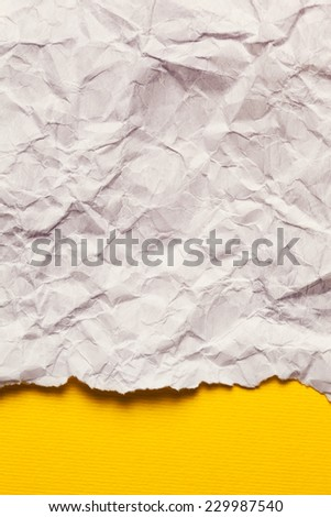 Torn Paper with space for text on yellow background - stock photo