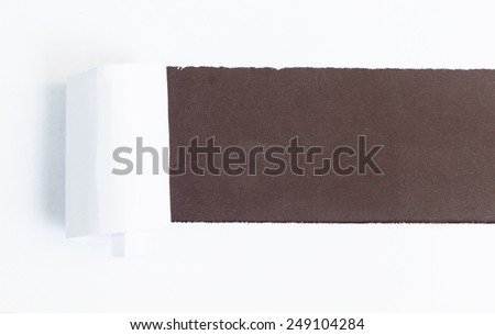 Torn Paper with space for text with vintage dark brown background - stock photo