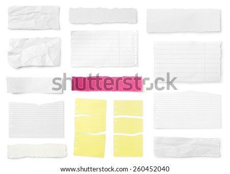 Torn papers - stock photo