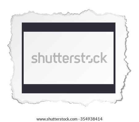 Torn photo paper - stock photo