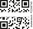 Torn qr code with place for your text. vector illustration - stock photo