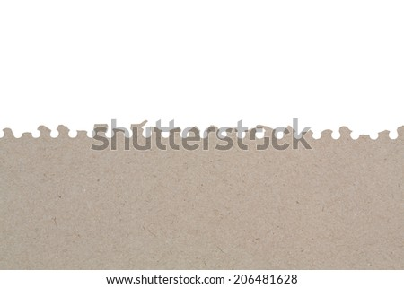 Torn Sheet of Paper From recycled paper - stock photo