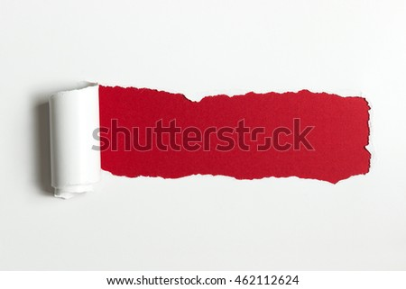 Torn white paper background with space for text