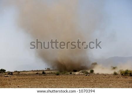 tornado 001 africa tanzania - stock photo