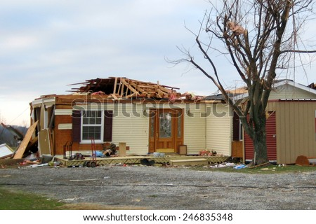 Tornado damage - stock photo
