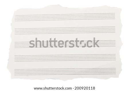 torned sheet of note papers    isolated on white background