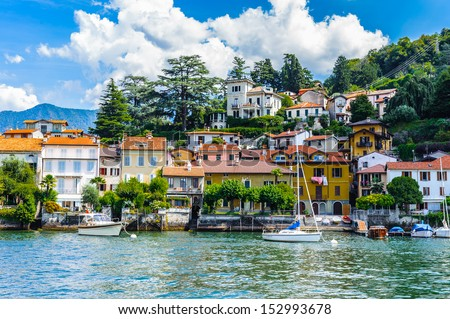 Torno is a comune in the Province of Como in the Italian region Lombardy, Italy - stock photo