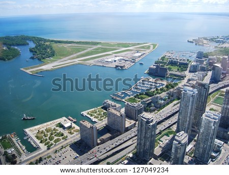 Toronto Aerial View, Canada - stock photo