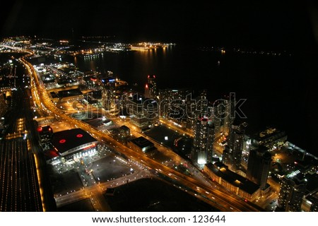 Toronto and lacke ontario - stock photo