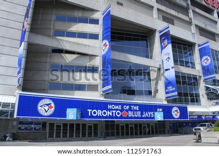 TORONTO - APRIL 20: Rogers Centre opened in 1989 and is home to the Toronto Blue Jays Baseball Team and Argonauts Canadian Football Team, on April 20 2012 in Toronto, Canada.