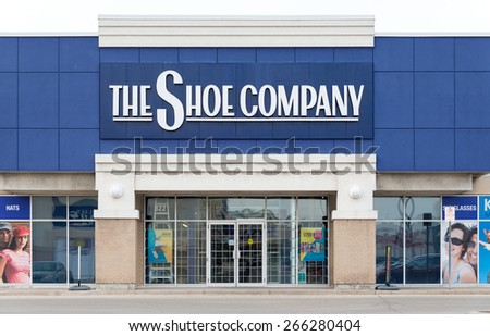 TORONTO,CANADA-APRIL 2,2015: The Shoe Company Store;The Shoe Company is a Canadian shoe and apparel store, originating from the Greater Toronto Area. They currently operate 65 stores - stock photo