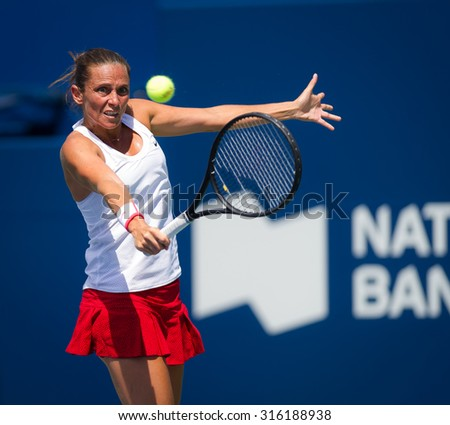 TORONTO, CANADA - AUGUST 13 :  Roberta Vinci in action at the 2015 Rogers Cup WTA Premier 5 tennis tournament