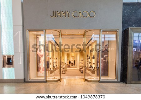 218614efbf9 ... Canada - February 23, 2018 Jimmy Choo store front in the mall ...
