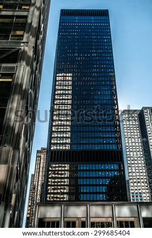TORONTO, CANADA  23 JULY, 2014: Modern Architecture in Downtown Toronto. Downtown Toronto has prominent buildings in a variety of styles by many famous architects.