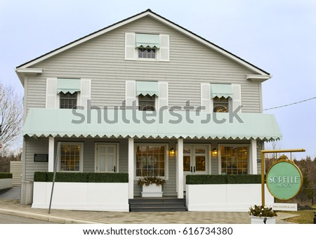 Front Section View House Pitched Roof Stock Illustration