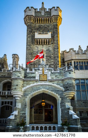 TORONTO, CANADA, NOVEMBER 12, 2014: Toronto's Casa Loma - stock photo