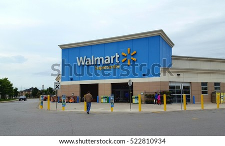 TORONTO, CANADA - SEPTEMBER 26, 2016: A Walmart Superstore in Toronto, Canada.