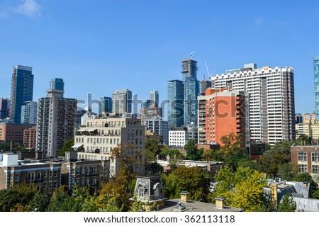 Toronto condo buildings. - stock photo