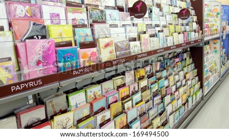 Toronto december 14 greeting cards store stock photo royalty free toronto december 14 greeting cards in a store on december 14 2013 in m4hsunfo
