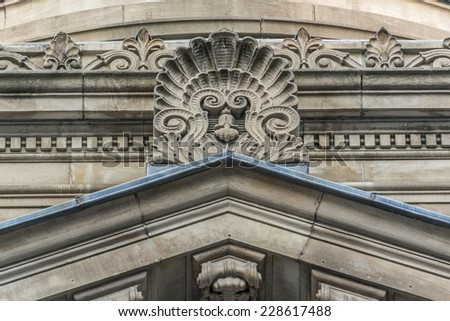 Toronto Dominion Bank Building, formerly Bank of Toronto (architect Edward James Lennox, 1906). 205 Yonge Street, Toronto, Canada. - stock photo
