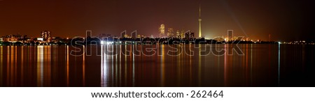 toronto, downtown night view