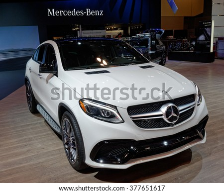 TORONTO-FEBRUARY 12: at the 2016 Canadian International AutoShow.The new 2016 Mercedes AMG GLE 63S is powered by a 5.5L biturbo V8 engine, that produce over 575 hp