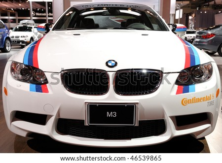 TORONTO-FEBRUARY  11: BMW M3 at the 2010 Canadian International Auto Show on February 11, 2010 in Toronto - stock photo