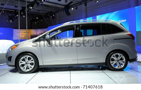 TORONTO-FEBRUARY 17: Ford C-MAX showcased at the 2011 Canadian International Auto Show on February 17, 2011 in Toronto