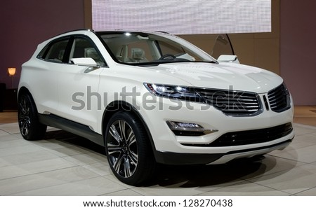 TORONTO-FEBRUARY 14: Lincoln MKC Concept at the 2013 Canadian International Auto Show on February 14, 2013 in Toronto - stock photo