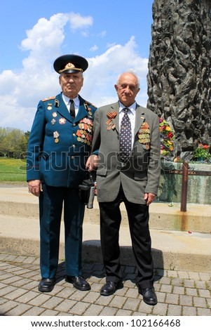 TORONTO  MAY 09: Two Russian veterans of Red Army at the annual meeting of veterans of 2-nd World War in May 09 2012 in Toronto, Canada.